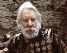 Donald Sutherland The Hunger Games Signed 11X14 Photo PSA/DNA #S33625