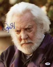 Donald Sutherland The Hunger Games Signed 11x14 Photo Psa/dna #s33626