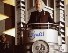 Donald Sutherland The Hunger Games Signed 11X14 Photo PSA/DNA #W73393