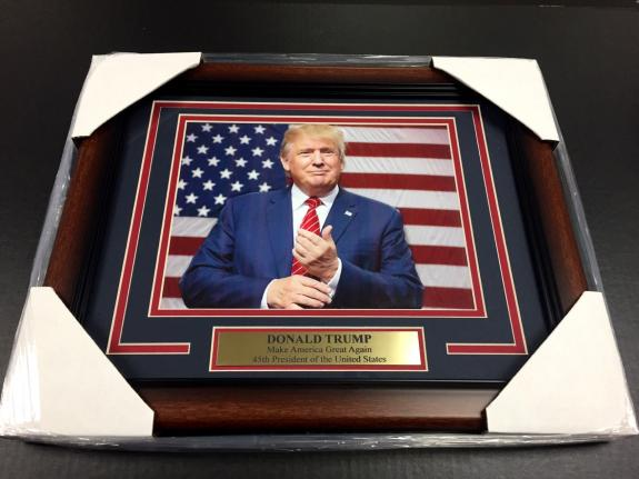 DONALD TRUMP 45TH US PRESIDENT MAKE AMERICA GREAT AGAIN FRAMED 8x10 PHOTO