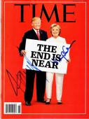 Donald Trump and Hillary Clinton Signed - Autographed 2016 TIME Magazine - Election Candidates - Guaranteed to pass PSA or JSA