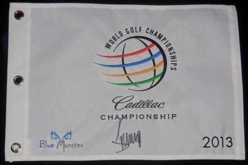 Donald Trump Autographed 2013 Doral Cadillac Championship Golf Flag (president!)