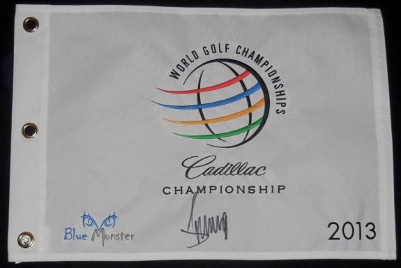 Donald Trump Autographed 2013 Doral Cadillac Championship Golf Flag (president!)