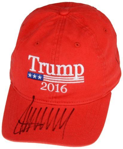 Donald Trump Autographed 2016 Campaign Hat - Beckett LOA