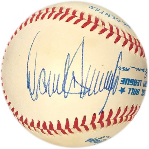 Donald Trump Autographed Baseball (JSA)