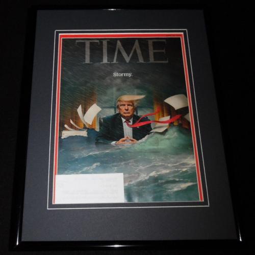 Donald Trump Framed 11x14 ORIGINAL 2018 Time Stormy Cover