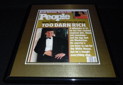 Donald Trump Framed ORIGINAL 1987 People Magazine Cover Mentions White House