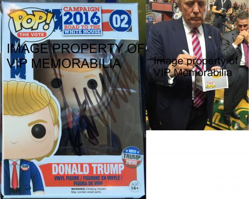 Donald Trump Hand Signed   Autographed Funko Pop Toy Doll Figurine - JSA