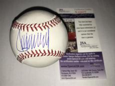 Donald Trump JSA COA Autographed Signed MLB Baseball 45th President