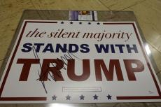 Donald Trump Jsa Coa Signed Official Campaign Sign Make America Great Again!