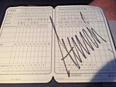 DONALD TRUMP JSA Signed Autograph Scorecard Trump National President