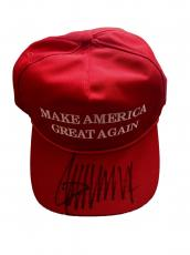 Donald Trump (Make America Great Again) Signed Official Hat JSA