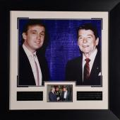 Donald Trump meets Ronald Reagan Framed Photograph
