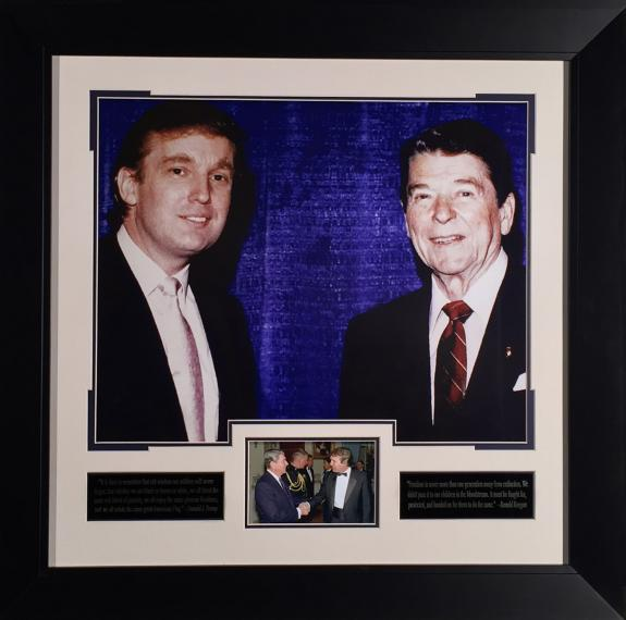 Donald Trump meets Ronald Reagan – Photograph Framed