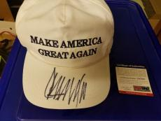 Donald Trump Psa/dna  Signed Official Hat Made In Usa Make America Great Again!