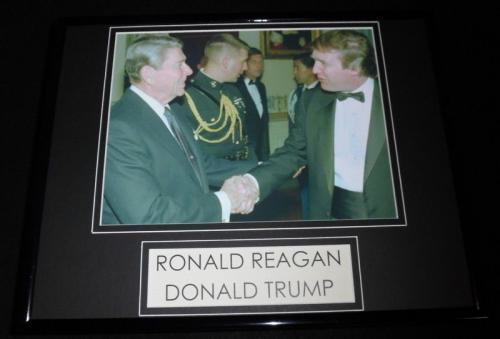 Donald Trump & Ronald Reagan Framed 11x14 Photo Display