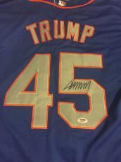 DONALD TRUMP Signed #45 NEW YORK METS JERSEY PSA DNA