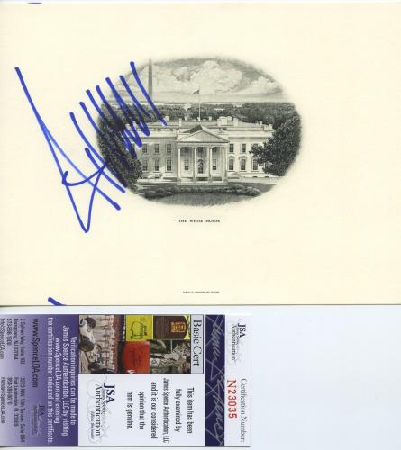 Donald Trump Signed Autographed White House Engraving Jsa Coa Rare!!