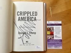 Donald Trump Signed Crippled America Book JSA Coa President Of The United States