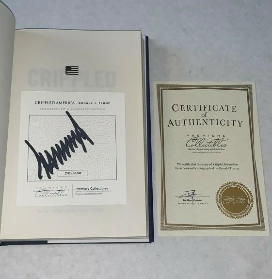 Donald Trump signed Crippled America First Edition Book W/ COA Limited Edition