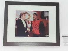 Donald Trump Signed Framed And Matted 8x10 Photo In 11x14 Frame 45th President