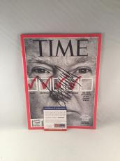 Donald Trump Signed Time Magazine On The Plane With Donald Trump Psa Dna