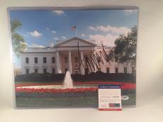 DONALD TRUMP SIGNED WHITE HOUSE 11x14 PHOTO 45TH PRESIDENT PSA DNA RARE