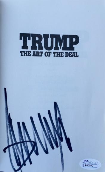 Donald Trump (The Art Of The Deal) Signed Paperback Book Jsa P40090