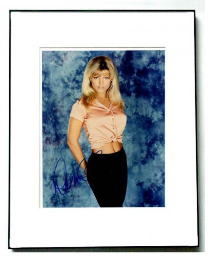 Donna D&#39errico Autographed Signed Framed 8x10 Playboy Photo UACC RD AFTAL