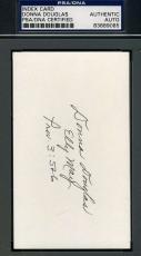 Donna Douglas Beverly Hillbillies Signed Psa/dna 3x5 Index Card  Autograph