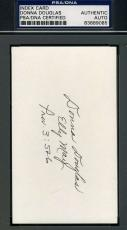 Donna Douglas Beverly Hillbillies Signed Psa/dna 3x5 Index Card  Autograph