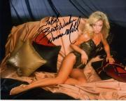 DONNA MILLS HAND SIGNED 8x10 COLOR PHOTO+COA      SEXY KNOTS LANDING      TO BOB