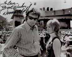 DONNA MILLS HAND SIGNED 8x10 PHOTO+COA       WITH CLINT EASTWOOD      TO DAVE