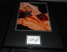 Donna Mills SEXY Lingerie Signed Framed 16x20 Photo Display JSA Knots Landing