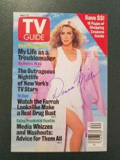 Donna Mills-signed photo TV GUIDE COVER