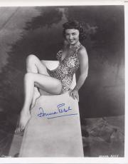 Donna Reed Signed B/w 8x10 Photo Bathing Suit Authentic Autograph Psa/dna Coa