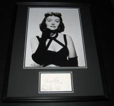 Donna Reed Signed Framed 16x20 Photo Poster Display JSA