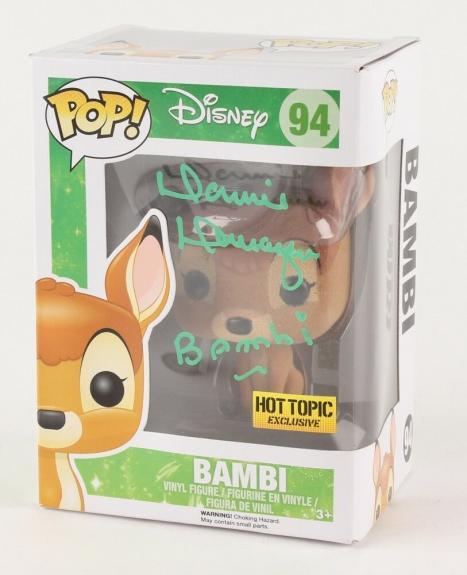 Donnie Dunagan Signed Bambi Disney Hot Topic Exclusive Funko Pop! Vinyl Figure