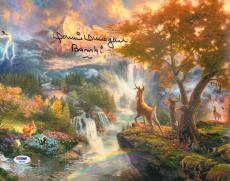 "DONNIE DUNAGAN Signed WALT DISNEY Movie ""Bambi"" 11x14 Photo PSA/DNA #AB96102"