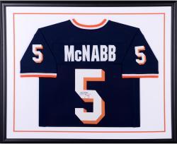 Donovan McNabb Syracuse Orange Autographed Standard Framed Blue Jersey