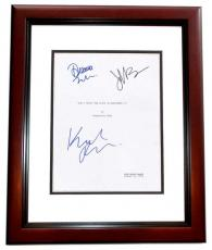 Don't Trust the B in Apartment 23 Autographed Script Cover by Krysten Ritter, Dreama Walker, and James Van Der Beek MAHOGANY CUSTOM FRAME