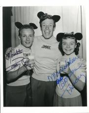 Doreen Tracey Actress & Tommy Cole Walt Disney Mousketeer Signed Photo Autograph