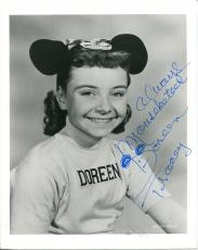 Doreen Tracey Actress Was Walt Disney Mousketeer Signed Photo Autograph