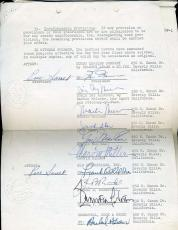 Doris Day Gordon Macrae Marvin Miller Etc Jsa Signed 1962 Contract Autograph