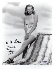 DORIS DAY HAND SIGNED 8x10 PHOTO         BEAUTIFUL SWIMSUIT POSE         PSA COA