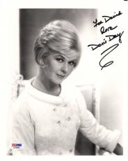 DORIS DAY HAND SIGNED 8x10 PHOTO    GREAT+RARE POSE FROM 60's    TO DAVID    PSA