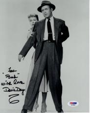 DORIS DAY HAND SIGNED 8x10 PHOTO     RARE POSE JIMMY STEWART   TO BOB    PSA COA