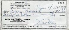 Doris Day Hand Signed Personal Check+coa            Hollywood Legend