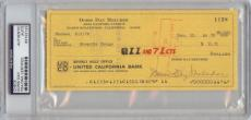 Doris Day Melcher Signed Check (1970) (PSA/DNA)