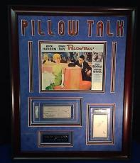 Doris Day Rock Hudson Pillow Talk Custom Framed signed PSA/DNA Slabbed Signature